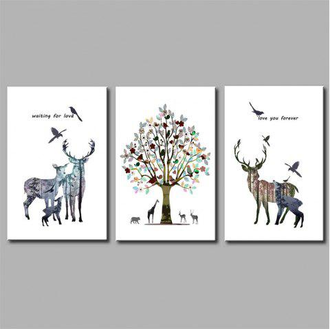 Hua Tuo Deer Style Stretched Frame Ready To Hang Size 50 x 70CM A1725 - COLORFUL 20 X 28 INCH (50CM X 70CM)