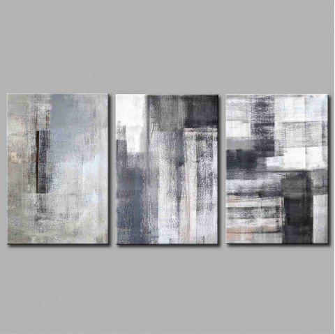 Hua Tuo Abstract Style Stretched Frame Ready To Hang Size 50 x 70CM A1728 - GREY/BLUE 20 X 28 INCH (50CM X 70CM)