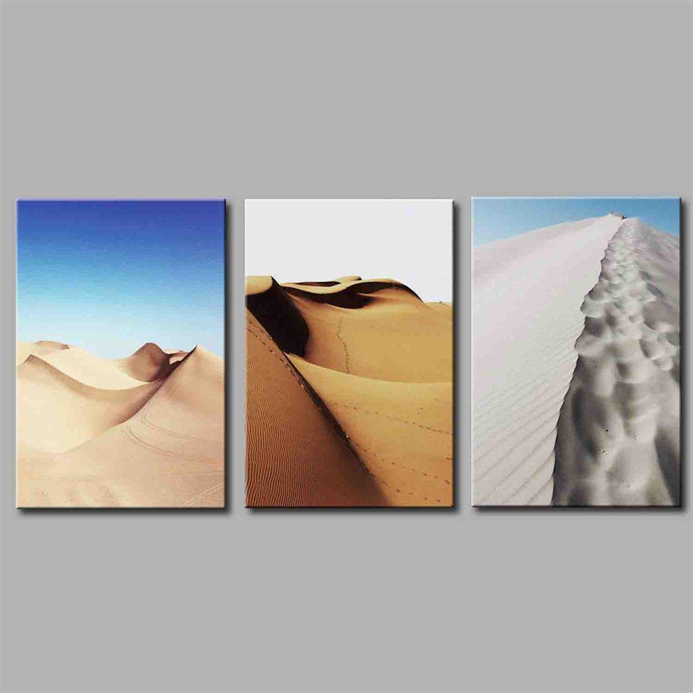 Hua Tuo Desert Style Stretched Frame Ready To Hang Size 50 x 70CM A1733 - YELLOW/GREY 20 X 28 INCH (50CM X 70CM)