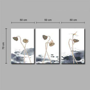 Hua Tuo A1735 Flower Style Stretched Frame Ready To Hang Size 50 x 70CM - WHITE 20 X 28 INCH (50CM X 70CM)
