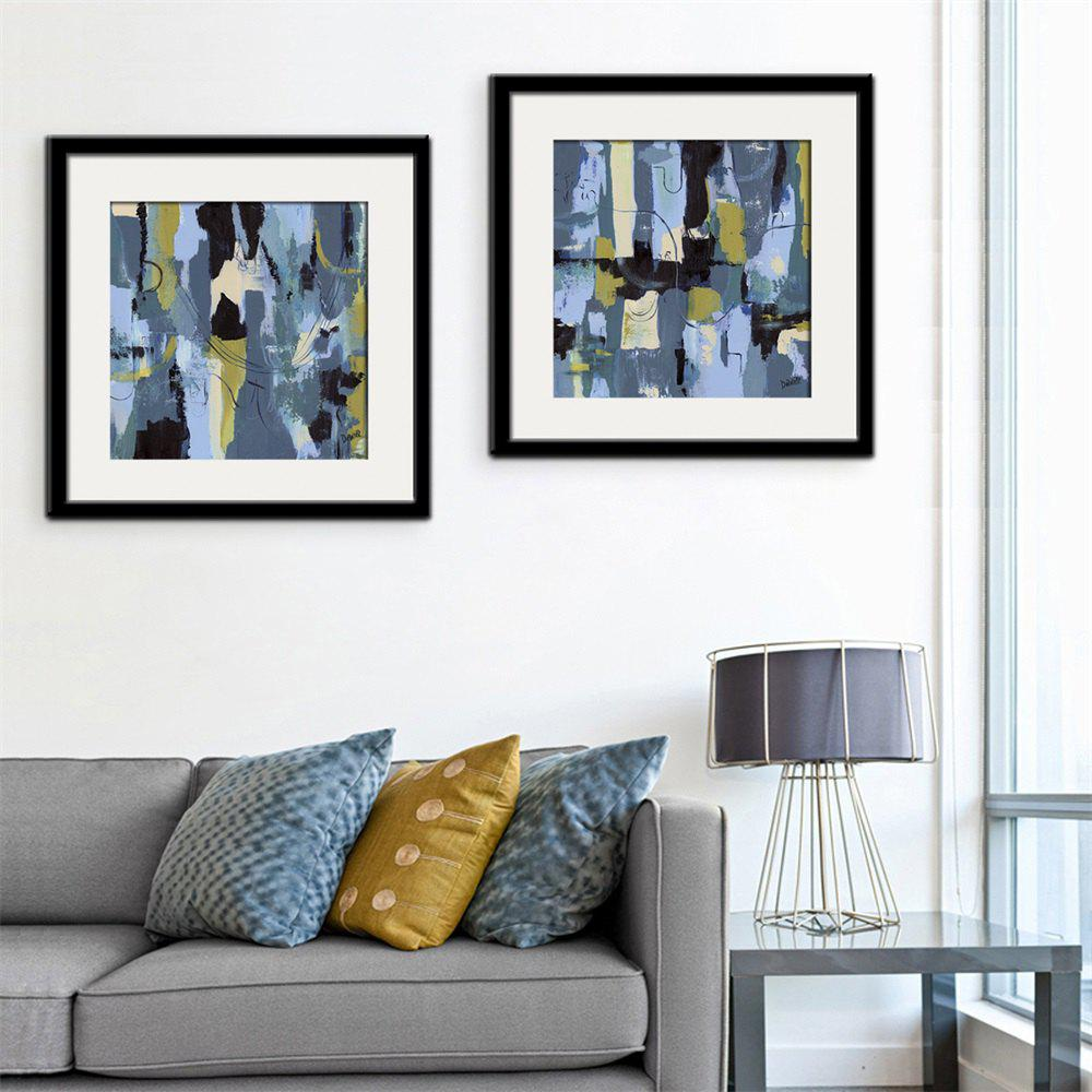 2018 Special Design Frame Paintings Confused Print 2PCS BLUE X INCH ...