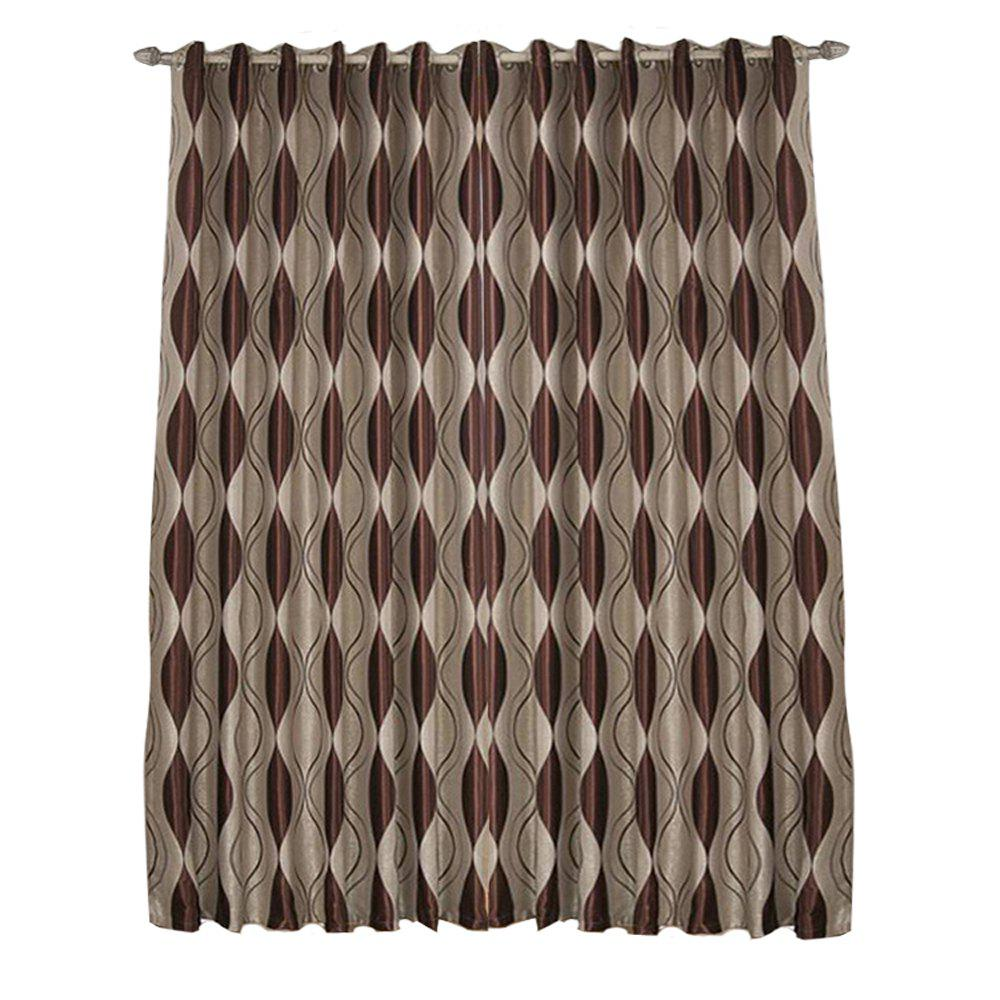 Shading jacquard curtain  The bedroom curtains Velvet curtain - MOCHA 1.4MX1.5M