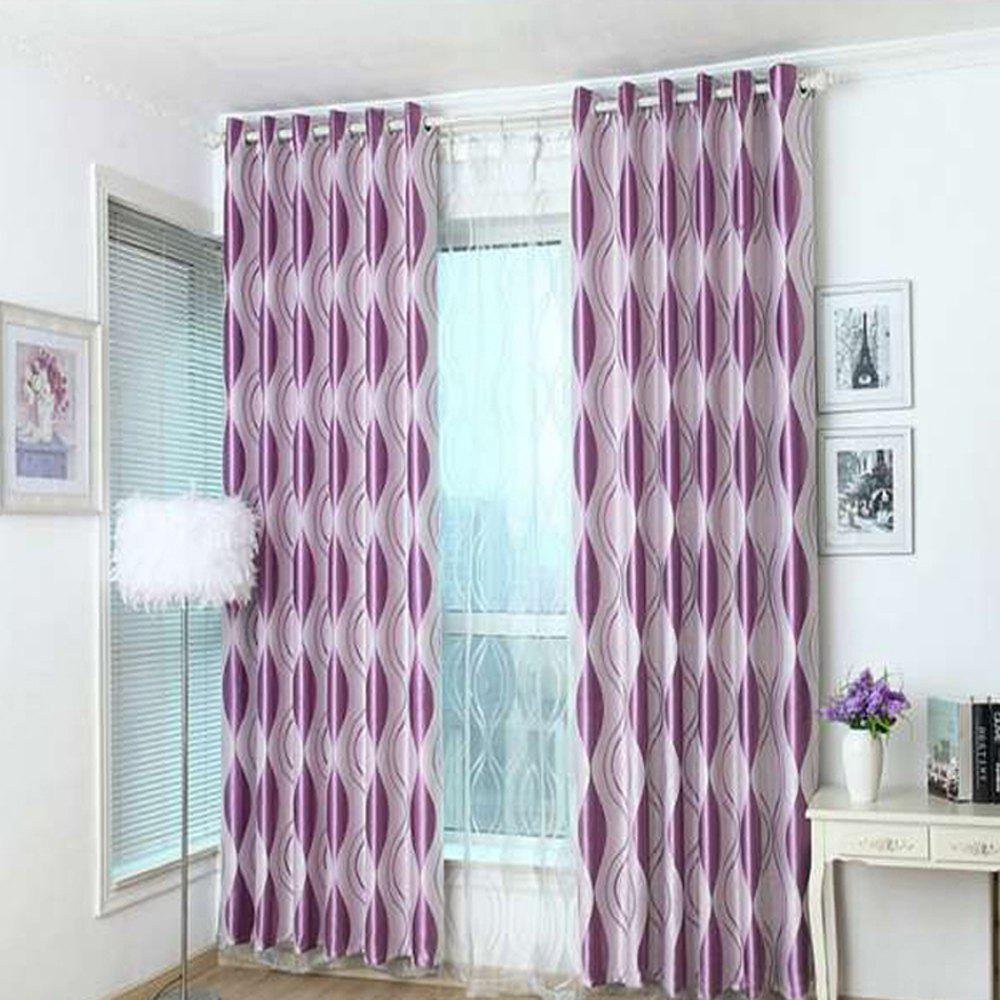 Shading jacquard curtain  The bedroom curtains Velvet curtain - PURPLE 1.4MX1.5M