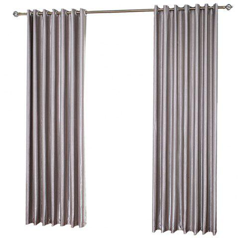 Shading Stripe Curtain  Bedroom Living Room Curtain - GRAY 1.4MX2.6