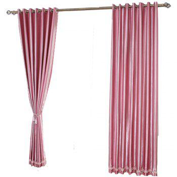 Shading Stripe Curtain  Bedroom Living Room Curtain - PINK PINK