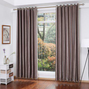 Shading Stripe Curtain  Bedroom Living Room Curtain - MOCHA MOCHA