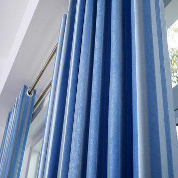 Shading Stripe Curtain  Bedroom Living Room Curtain - BLUE BLUE