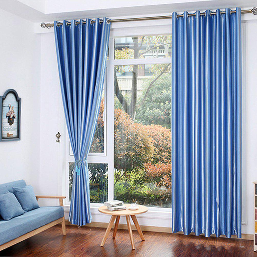 Shading Stripe Curtain  Bedroom Living Room Curtain - BLUE 1.4MX2.6M