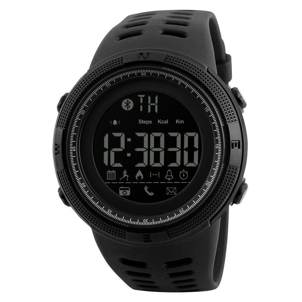 Beauty Fashion Men At All Times The Trend of Electronic Outdoor Sports Student Watches - BLACK