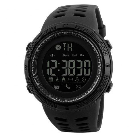 Fashion Electronic Outdoor Sports Student Burst Section Waterproof Sports Watch - BLACK