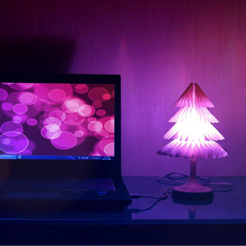 JUEJA Christmas Tree Desk Lamp USB Colorful LED Touch Control Night Light Xmas New Year Gift - RGB COLOR