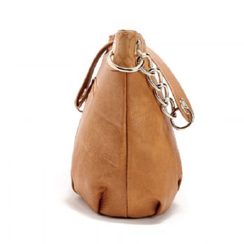 New Designer Women PU Leather Steel Chain Shoulder Bag Luxury Handbags Lady Bags Female Tote -  EARTHY