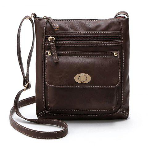 Shoulder Bags for Women 2017 Luxury Vintage Crossbody Bags Female Black Brown Fashion Flap Bags Ladies Small Bag - MOCHA