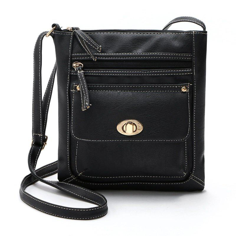 Shoulder Bags for Women 2017 Luxury Vintage Crossbody Bags Female Black Brown Fashion Flap Bags Ladies Small Bag - BLACK