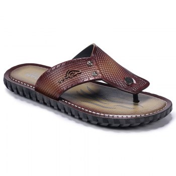 Wine Red Men Flip-flops