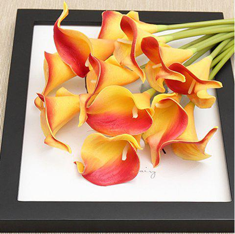 Anti-real flower calla flowers - YELLOW / RED