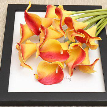 Anti-real flower calla flowers - YELLOW + RED YELLOW / RED