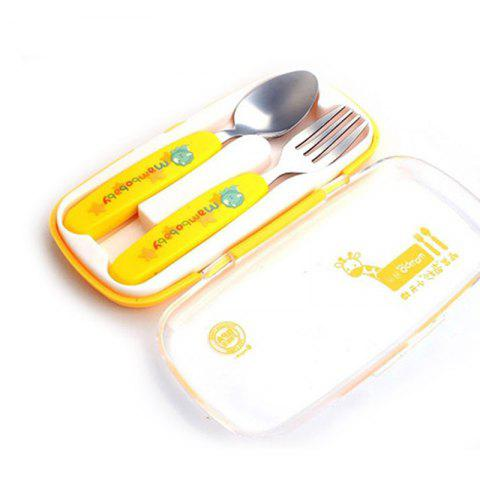 baby stainless steel anti-scalding spoons two-piece - DAISY