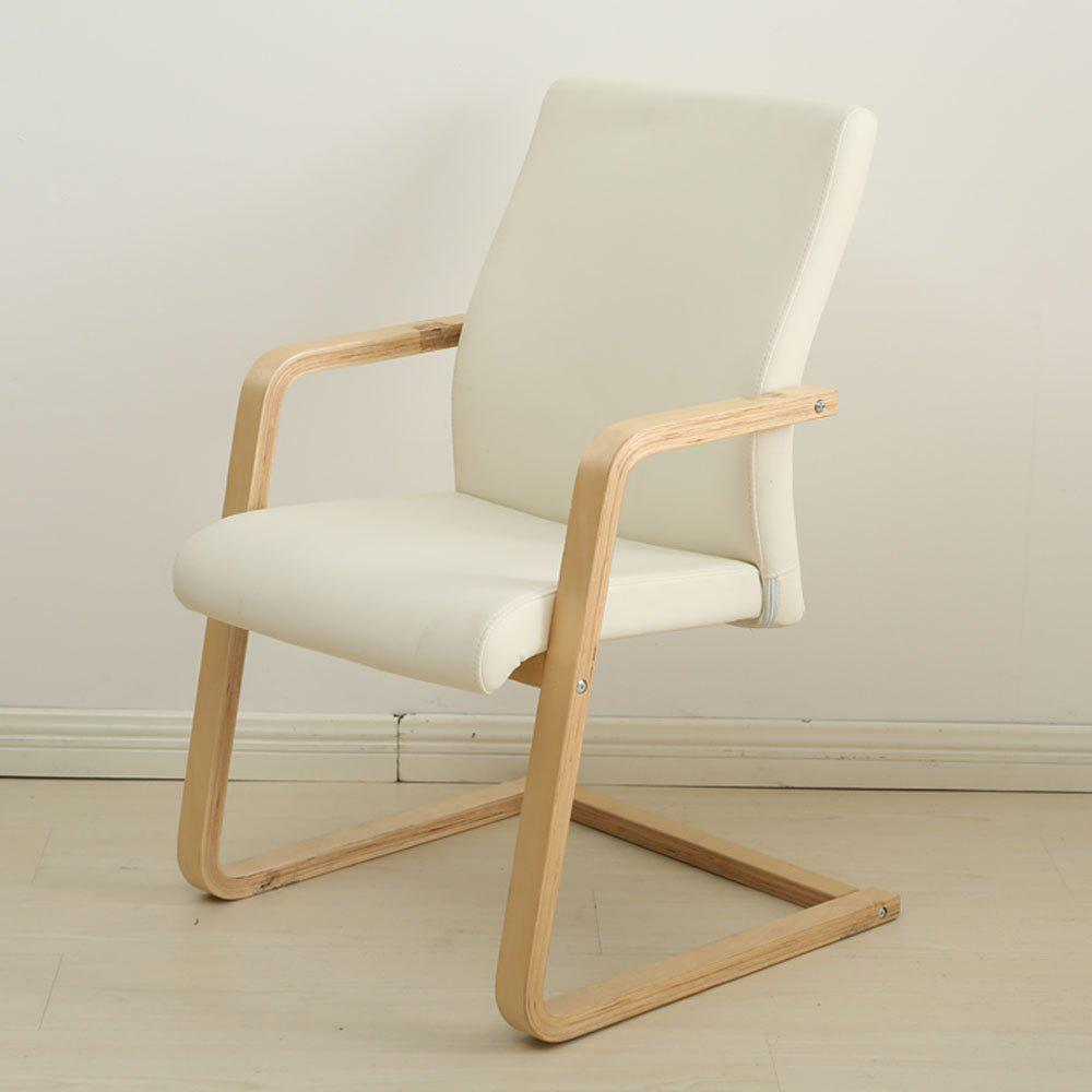 Furniture Leather Chair Comfortable Desk Chair With Arms - WHITE 1PC