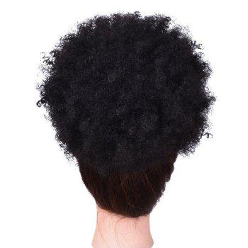 Afro Kinky Curly Synthetic Hair Bun Extension Chignon Hairpieces Wig for American Black Women - BLACK BLACK