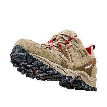 Clorts Women Hiking Shoes Waterproof EVA Trekking Climbing Shoes Cow Suede Outdoor Sports Sneakers - BROWN C STYLE 41