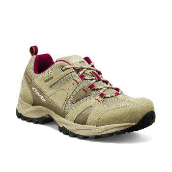 Clorts Women Hiking Shoes Waterproof EVA Trekking Climbing Shoes Cow Suede Outdoor Sports Sneakers - BROWN C STYLE BROWN C STYLE