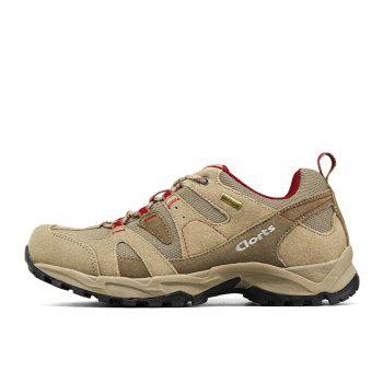 Clorts Women Hiking Shoes Waterproof EVA Trekking Climbing Shoes Cow Suede Outdoor Sports Sneakers - BROWN C STYLE 36