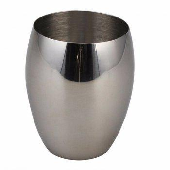 Polished Stainless Steel Refillable Splendid Bathroom Accessory Set Oval - SILVER