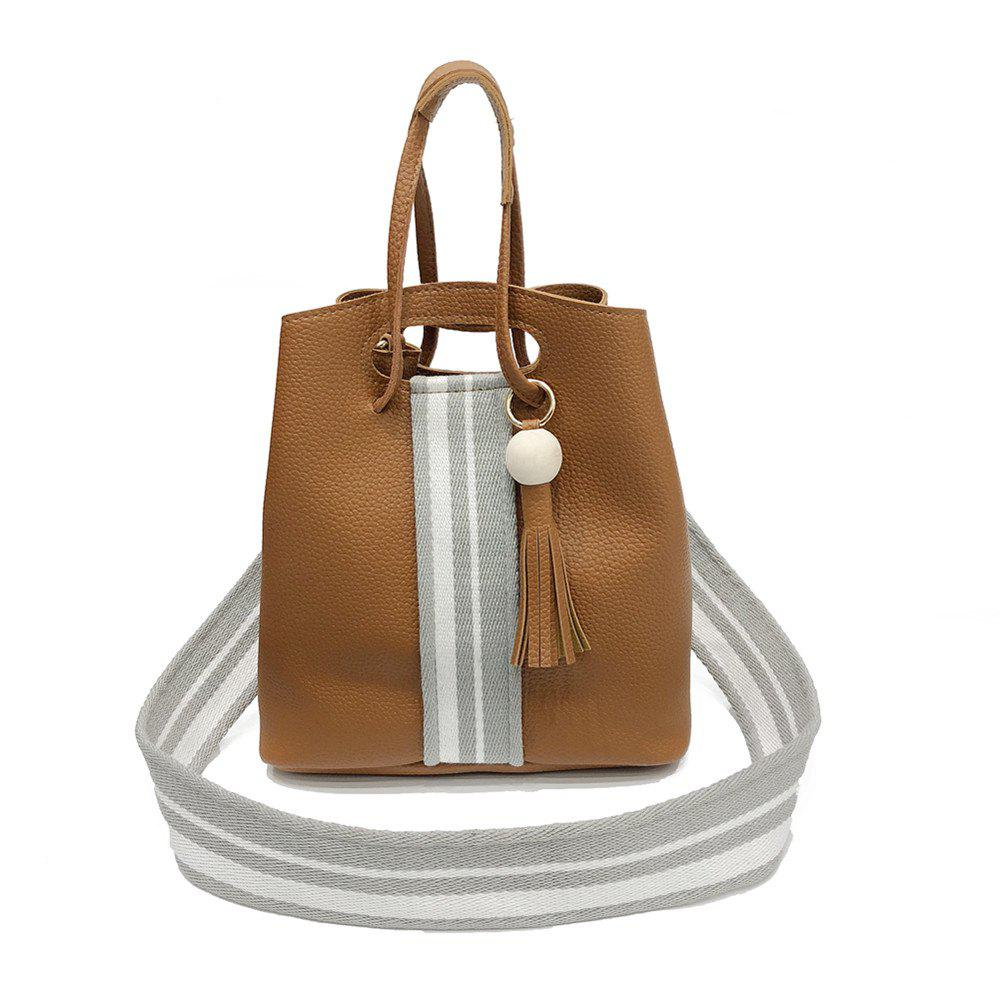Four Pieces Bucket Mother Bag Wild Handbag Messenger Bag - LIGHT BROWN