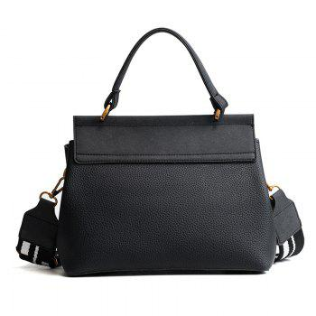 Female Bag 2018 New Tide All-Match Wide Straps Shoulder Bag Handbag Crossbody Handbag Fashion. - BLACK