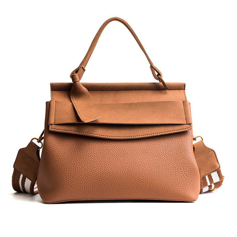 Female Bag 2018 New Tide All-Match Wide Straps Shoulder Bag Handbag Crossbody Handbag Fashion. - YELLOW BROWN