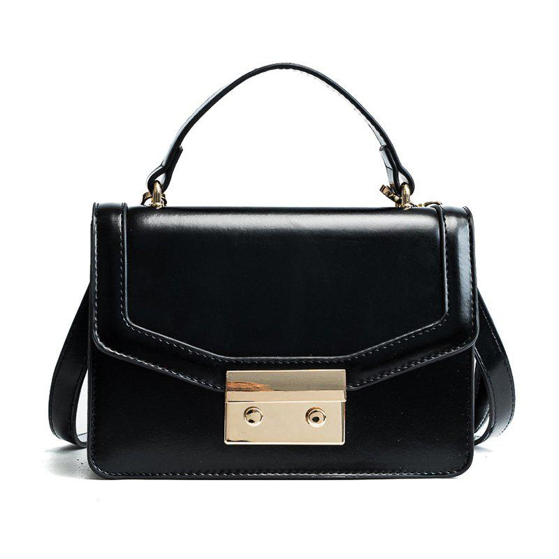 Fashion Women Pack 2018 New Fashion Style Small Square Bag with Single Shoulder Bag Design Stereo Cross-Body Bag - BLACK