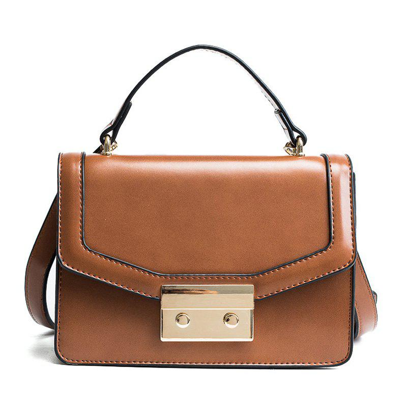 Fashion Women Pack 2018 New Fashion Style Small Square Bag with Single Shoulder Bag Design Stereo Cross-Body Bag - YELLOW BROWN