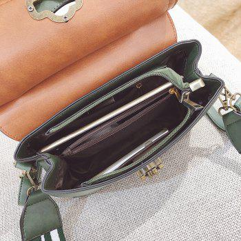 Fashion Trendy Handbag Female Trendy Wild Messenger Bag Spell Color Package 2018 New Female Bag - GREEN
