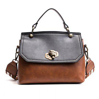 Fashion Trendy Handbag Female Trendy Wild Messenger Bag Spell Color Package 2018 New Female Bag - YELLOW-BROWN YELLOW BROWN