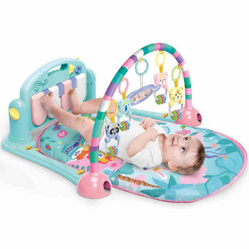 baby bodybuilding music early teaching 0-1 year old baby  foot piano gym - BLUE 50*7.8*42.5CM