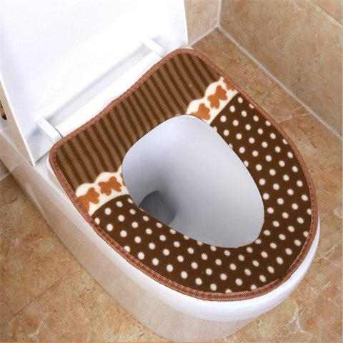Corduroy toilet cushion in winter - COFFEE OUTER DIAMETER: 37 X 43 INNER DIAMETER: 26 X 19