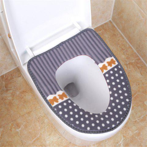 Corduroy toilet cushion in winter - GRAY OUTER DIAMETER: 37 X 43 INNER DIAMETER: 26 X 19
