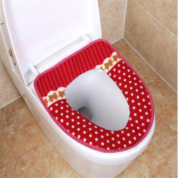 Corduroy toilet cushion in winter - RED RED