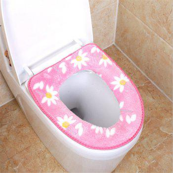A toilet seat cushion and a toilet cushion in winter - PINK PINK
