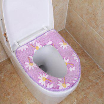 A toilet seat cushion and a toilet cushion in winter - PURPLE PURPLE