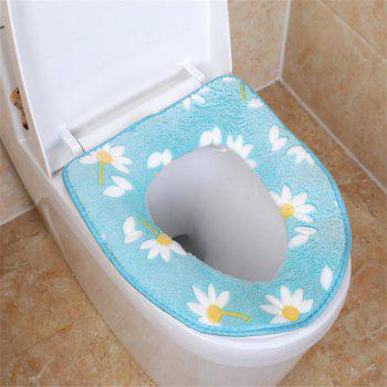 A toilet seat cushion and a toilet cushion in winter - BLUE BLUE