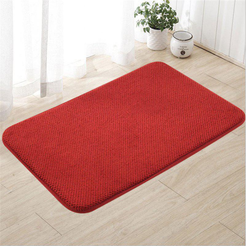 The bathroom toilet lobby door pedal antiskid mat mat mat - RED 60CM X 90CM