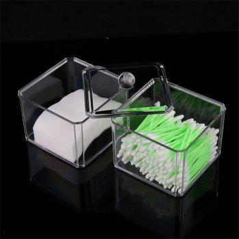 Double stacked cotton swab transparent make-up box - TRANSPARENT TRANSPARENT