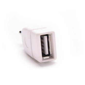 2pcs 3.5mm Male AUX Audio Plug To USB 2.0 Female Converter Adapter Cable - WHITE