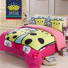New Arrivals Cartoon Bedding Set for Kids 3D Animal Bed Sheet Queen Size Cute Bulldog Print Duvet Cover Home Bedclothes - LIGHT BLUE DOUBLE