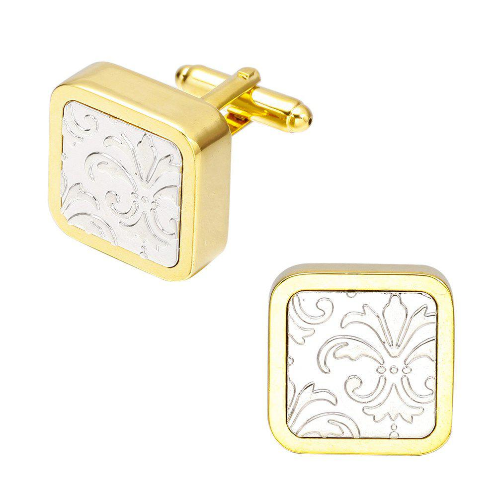 Luxury Fashion Gold Pattern Cufflinks French Long Sleeved Shirt Nails - GOLD
