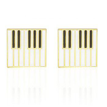 French Fashion Gold Piano Cufflinks Long Sleeved Shirt Nails
