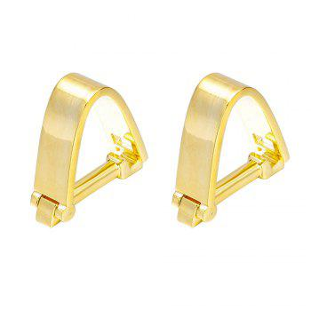 French Fashion Gold Snap Cufflinks Long Sleeved Shirt Nails - GOLD GOLD