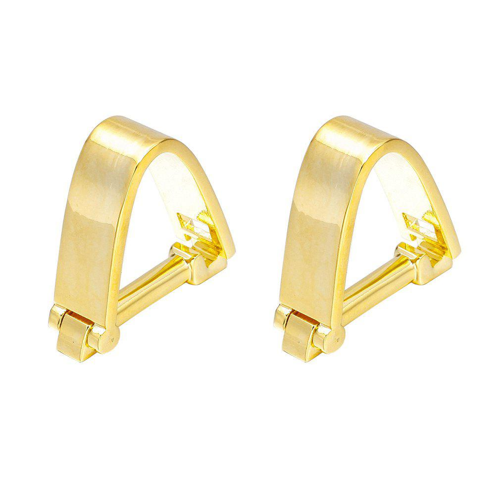 French Fashion Gold Snap Cufflinks Long Sleeved Shirt Nails - GOLD